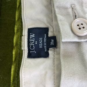 J Crew khaki Reade shorts size 31